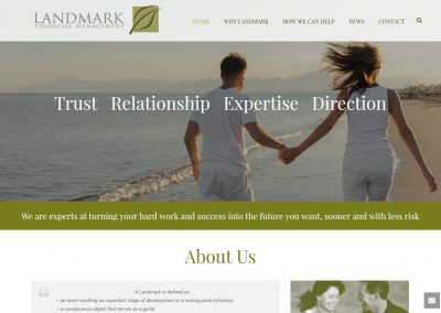 Landmark Financial Management Website