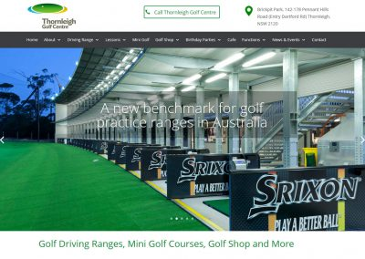 Thornleigh Golf Centre – Website Design
