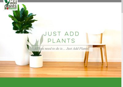 Just Add Plants – Website Design